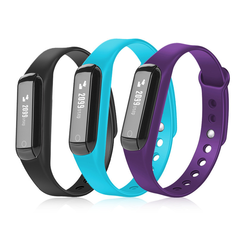 C3 Waterproof Bluetooth Pedometer Sports Smart Wristband Support Message Reminder and Sleeping Health Monitoring Smart Bracelet