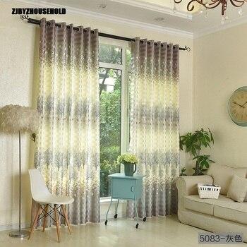 Cortinas para dormitorio comedor salón impresión Semi-apagón cortina de tela