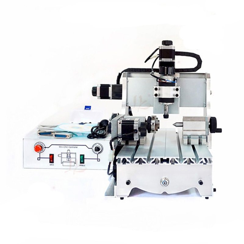 CNC 3020Z-D300 4axis CNC engraving milling machine for wood metal stone carving no tax mini desktop cnc milling engraving machine cnc 3020z d300 with ball screw and 300w spindle
