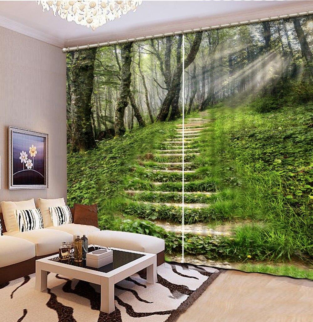 Forest green curtains koop goedkope forest green curtains for Romantische gordijnen