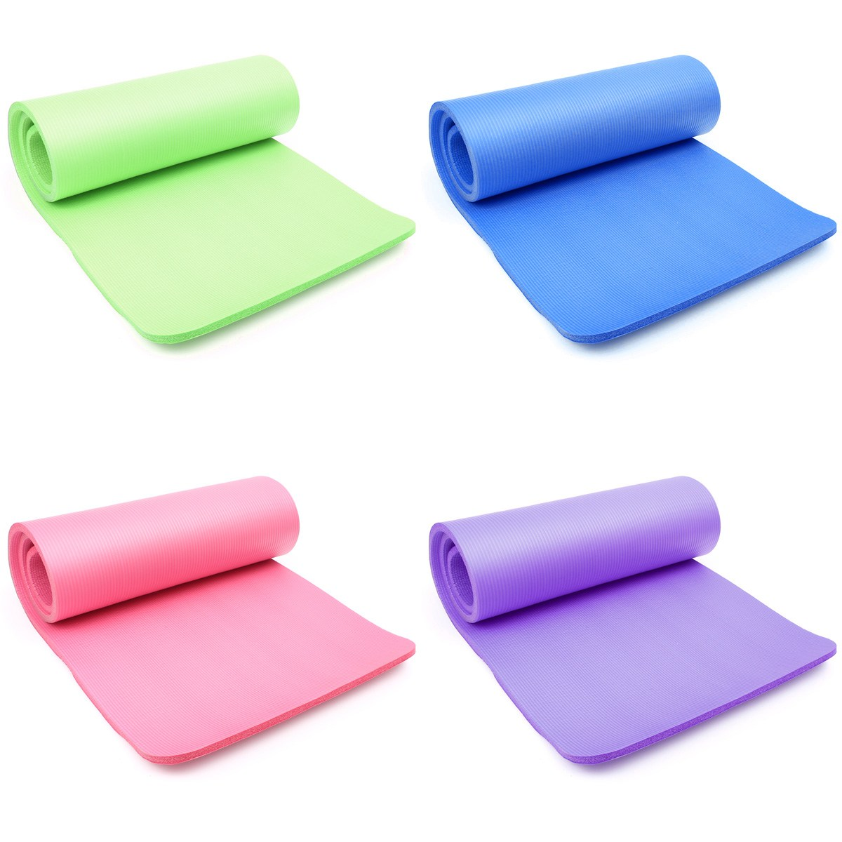 15mm Thick NBR Foam Yoga Mat Soft Yoga Pads Sports Training Exercise non-slip Gym Mat 183 X 61cm for Fitness Body Building yoga pilates mat pu 5mm for beginners and seniors widened workout yoga pilates gym exercise fitness gym mat