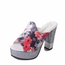 Women Shoes Sandals leather Sandals Summer Flip Flops 2018 Flower High heel  Sandals Gladiator Sandalias Gold 3d8eaa2fa1f0