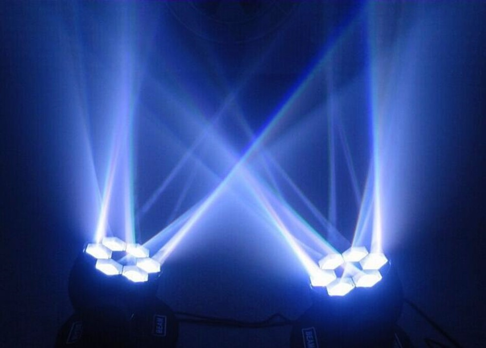 LED  Mini Bee Eye Led Moving Head Light Beam Effect dj light 6x15W  RGBW 4in1 LED Lamp 10/15CH