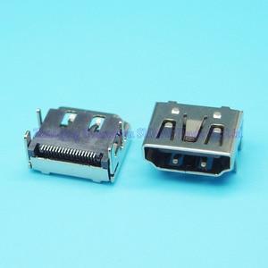10 pièces/lot cuivre HDMI prise femelle Interface19P HDMI Jack 180 degrés SMT