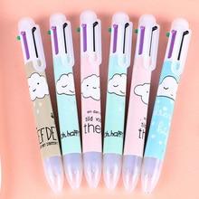 1pcs/lot Lovely Cartoon Clouds Press 6 Color Ballpoint Pen Writing ballpoint pen School Office supplies