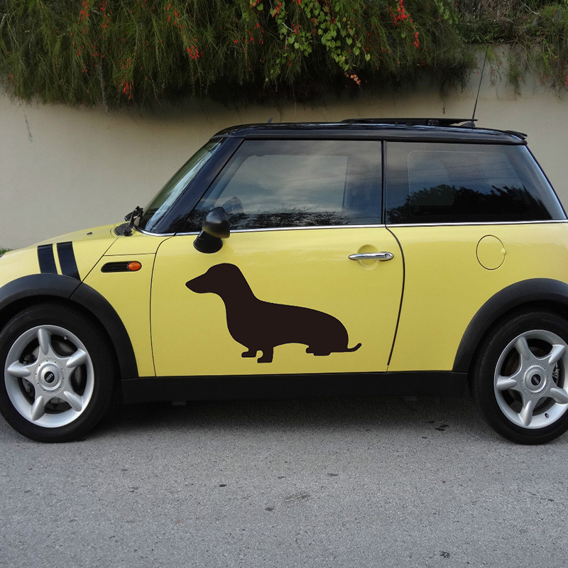 Online 58cm X 36 7cm 2 Dachshund Small Dog Silhouette Graphics One For Each Side Sticker Car Door Pup Vinyl Decal 8 Colors Aliexpress