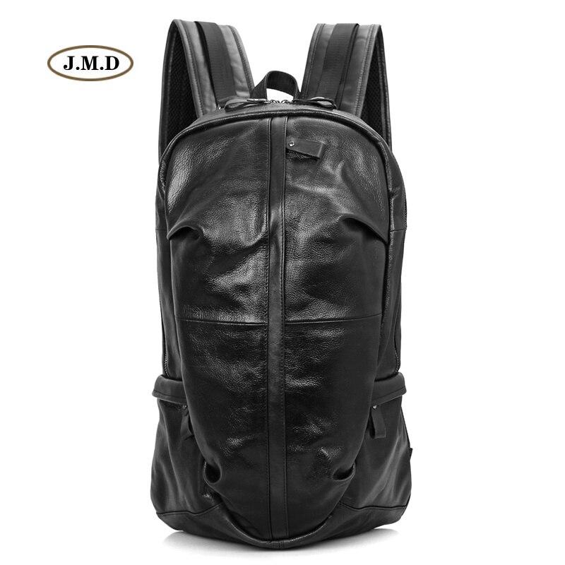 J.M.D Genuine Leather Unisex Fashion Backpack Unique Style Backpack Trip High Quality Travel Bag Unique Design Rucksack 7340A/B