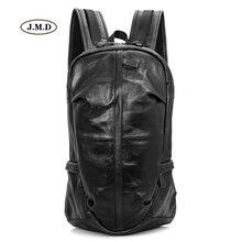 J.M.D Genuine Leather Unisex Fashion Backpack Mountain for Trip High Quality Travel Bag Unique Design Rucksack 7340