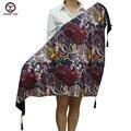 2016 la venta caliente nuevo estilo floral de la moda las mujeres de invierno cálido bufanda grande triagle bufandas de la borla de Las Mujeres Wraps chales señora libre gratis