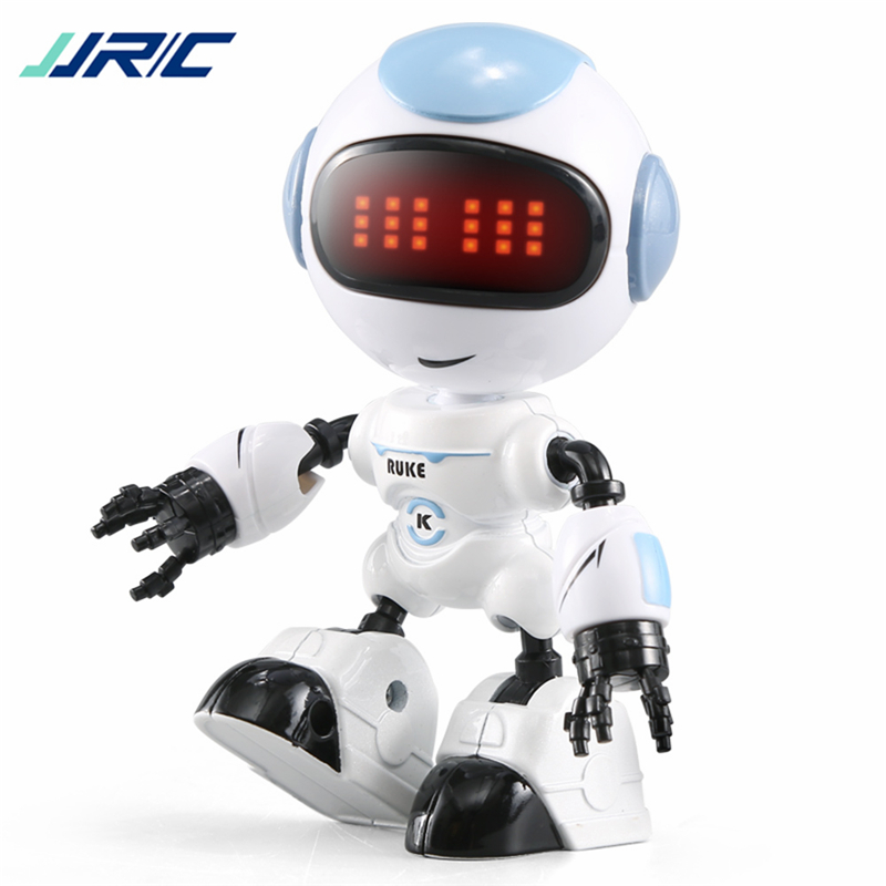 JJRC R8 Touch Sensing LED Eyes RC Robot Smart Voice DIY Body Gesture Model Toy For Child Gift  Gestu