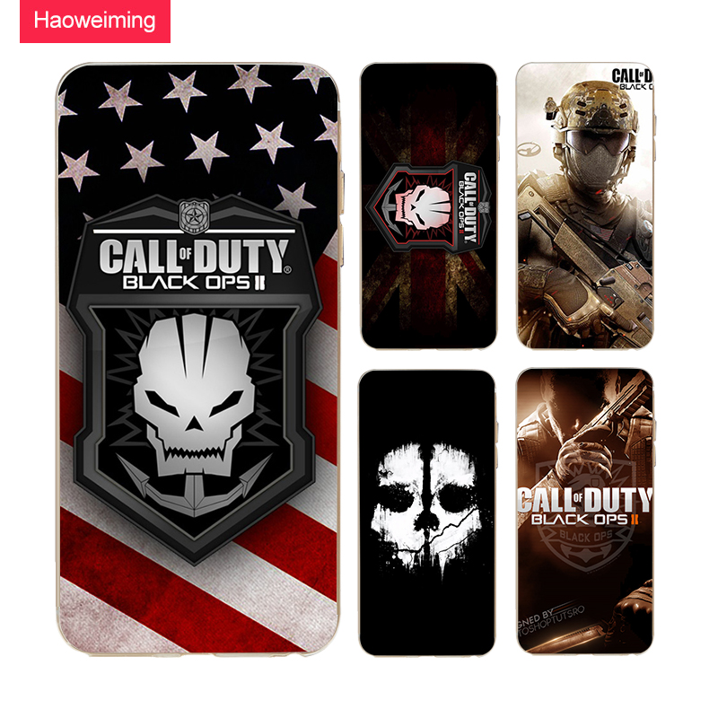 Haoweiming Call Of Duty Black Ops 2 Slim Silicone Soft TPU Cover Case For iphone X 4 4S 5 5S SE 6 6S 7 8 Plus #H056