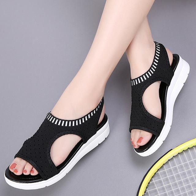 ab91a4a1d1d6 New women sandals casual flat platform summer shoes women comfortable breathable  sandals beach shoes big size 35-45