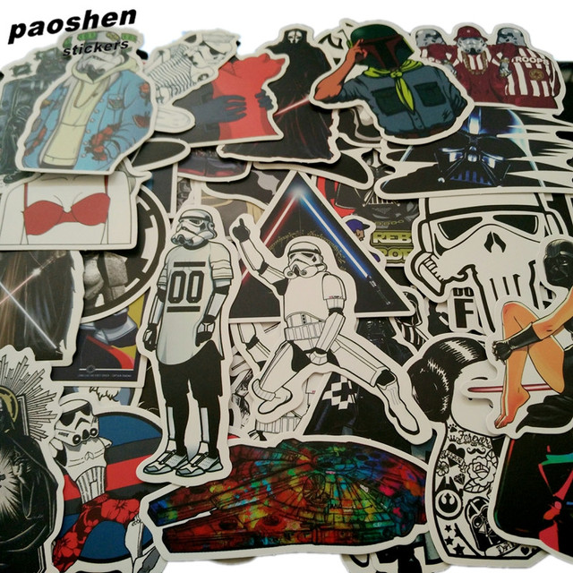 100Pcs/Lot Very Cool Styling Luggage Stickers