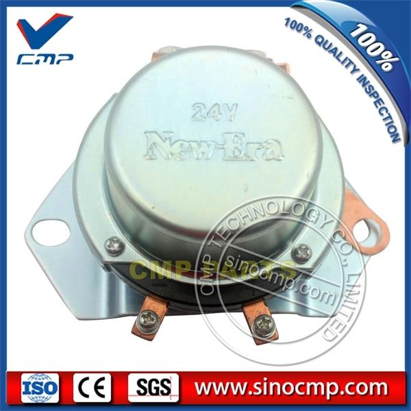SINOCMP BR266 Negative Electrode Relay, 24V Battery Switch 08088-10000 for Komatsu PC80-3 ExcavatorSINOCMP BR266 Negative Electrode Relay, 24V Battery Switch 08088-10000 for Komatsu PC80-3 Excavator