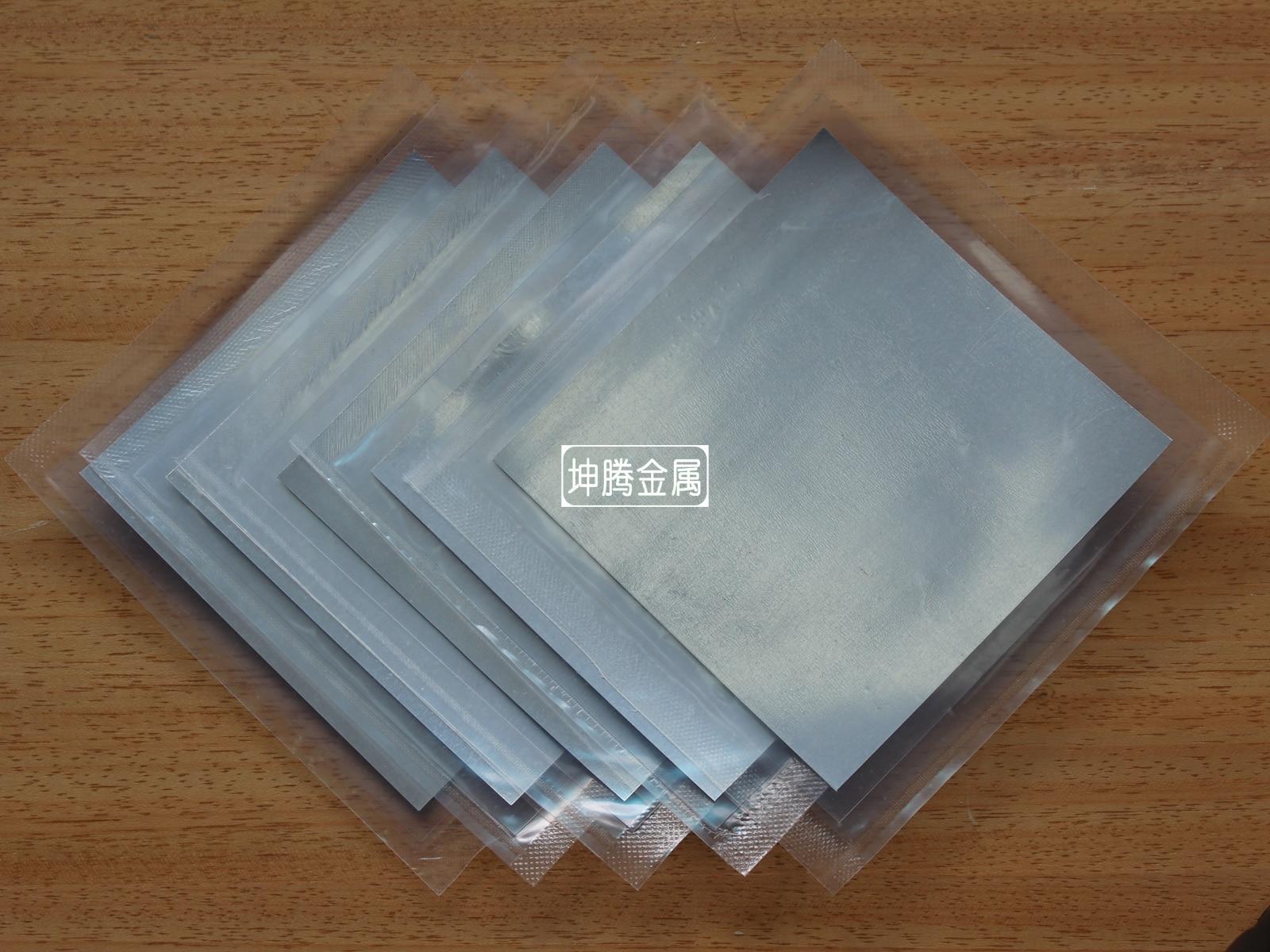 Indium Foil Indium Film Indium Paper 120 Mm * 120 Mm * 0.1 Mm Laser Electron Electrode MaterialIndium Foil Indium Film Indium Paper 120 Mm * 120 Mm * 0.1 Mm Laser Electron Electrode Material