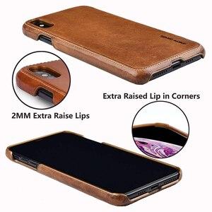 Image 4 - حافظة من الجلد الطبيعي من بيير كاردين لهواتف آيفون X XR XS Max حافظة هاتف فاخرة رفيعة للغاية لهاتف آيفون X XR XS Max