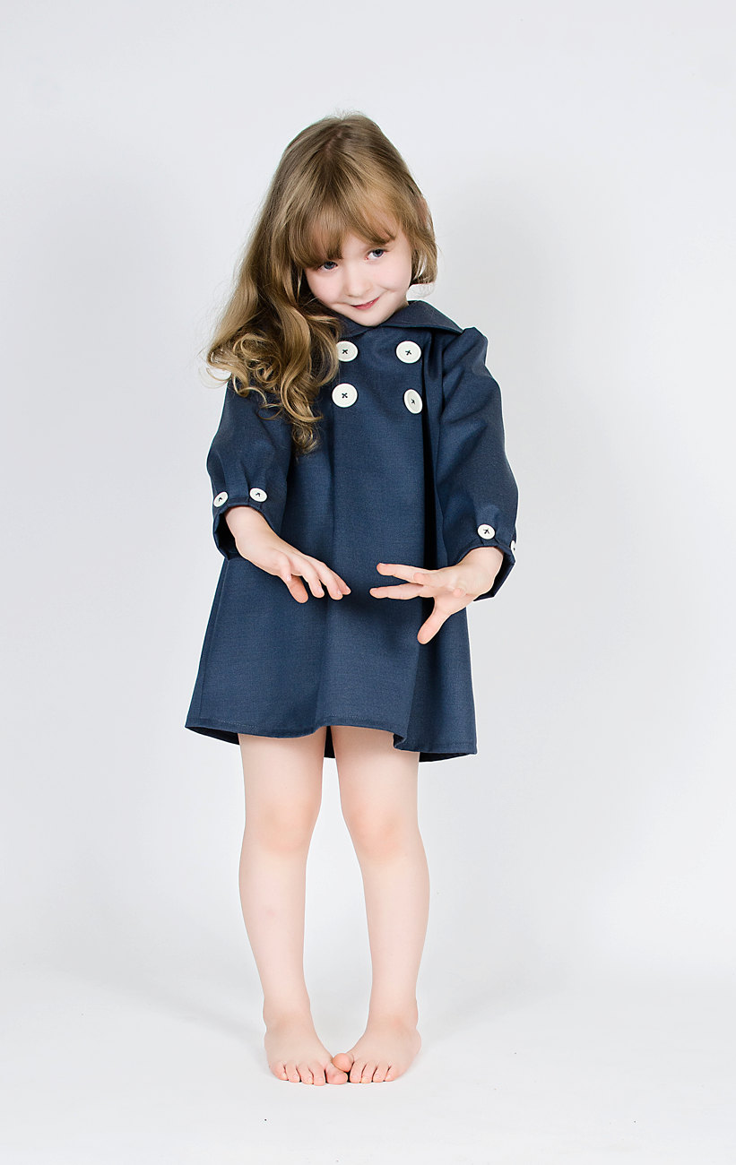New Arrival 2015 Kids Girls Coat Dresses Baby Girl Fall Fashion Dress Girl Bow Princess Dress