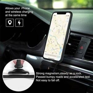 Image 5 - 10W Qi bezprzewodowa ładowarka samochodowa szybka Nillkin 2 W 1 magnetyczny uchwyt samochodowy uchwyt telefonu Pad dla iPhone X/8 + dla Samsung S10/uwaga 10
