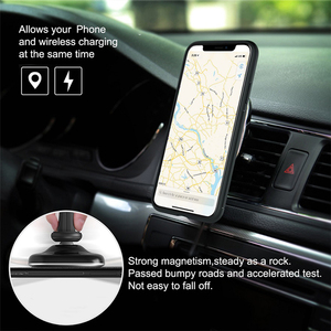 Image 5 - 10W Qi car wireless charger fast Nillkin 2 in 1 Magnetic Vehicle Mount Phone Holder Pad For iPhone X/8+ For Samsung S10/Note 10
