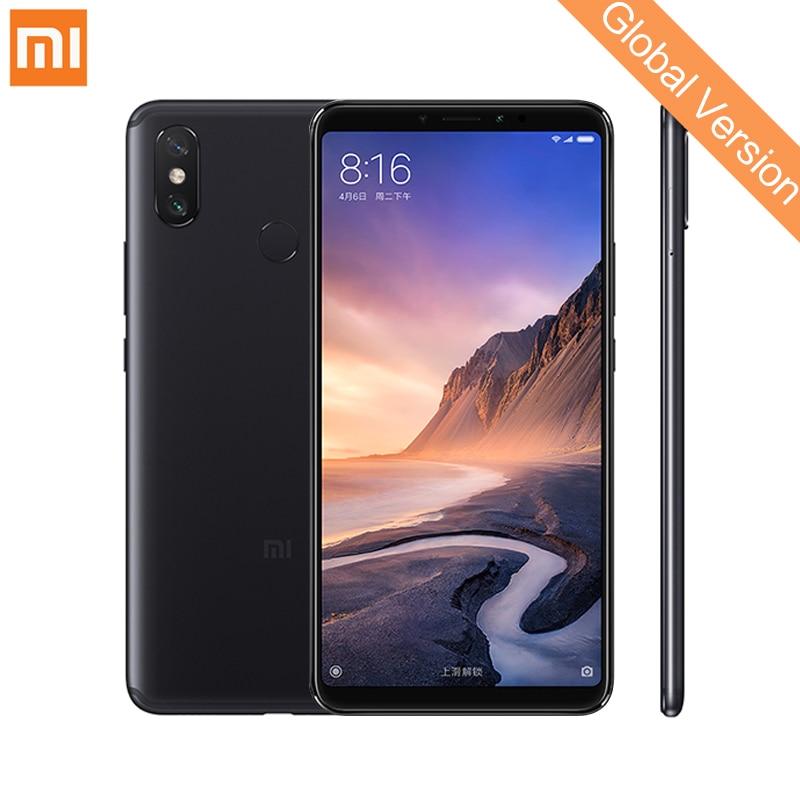 Mondial Version Xiao mi mi Max 3 Smartphone Snapdragon 636 Octa Core 4 gb 64 gb 6.9 1080 p plein Écran 5500 mah QC 3.0 AI Double Caméra
