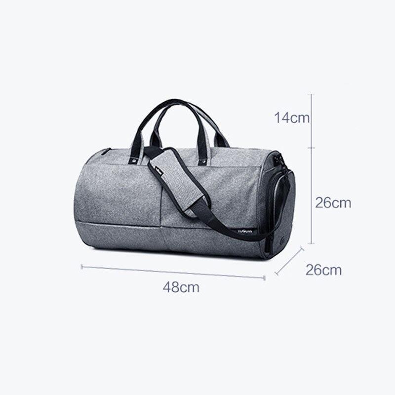 35L Men Multifunction Travel Bag 2018 Cabin Luggage Men Travel Bags Large Capacity black gray Backpack Canvas Casual Duffle Bag-10