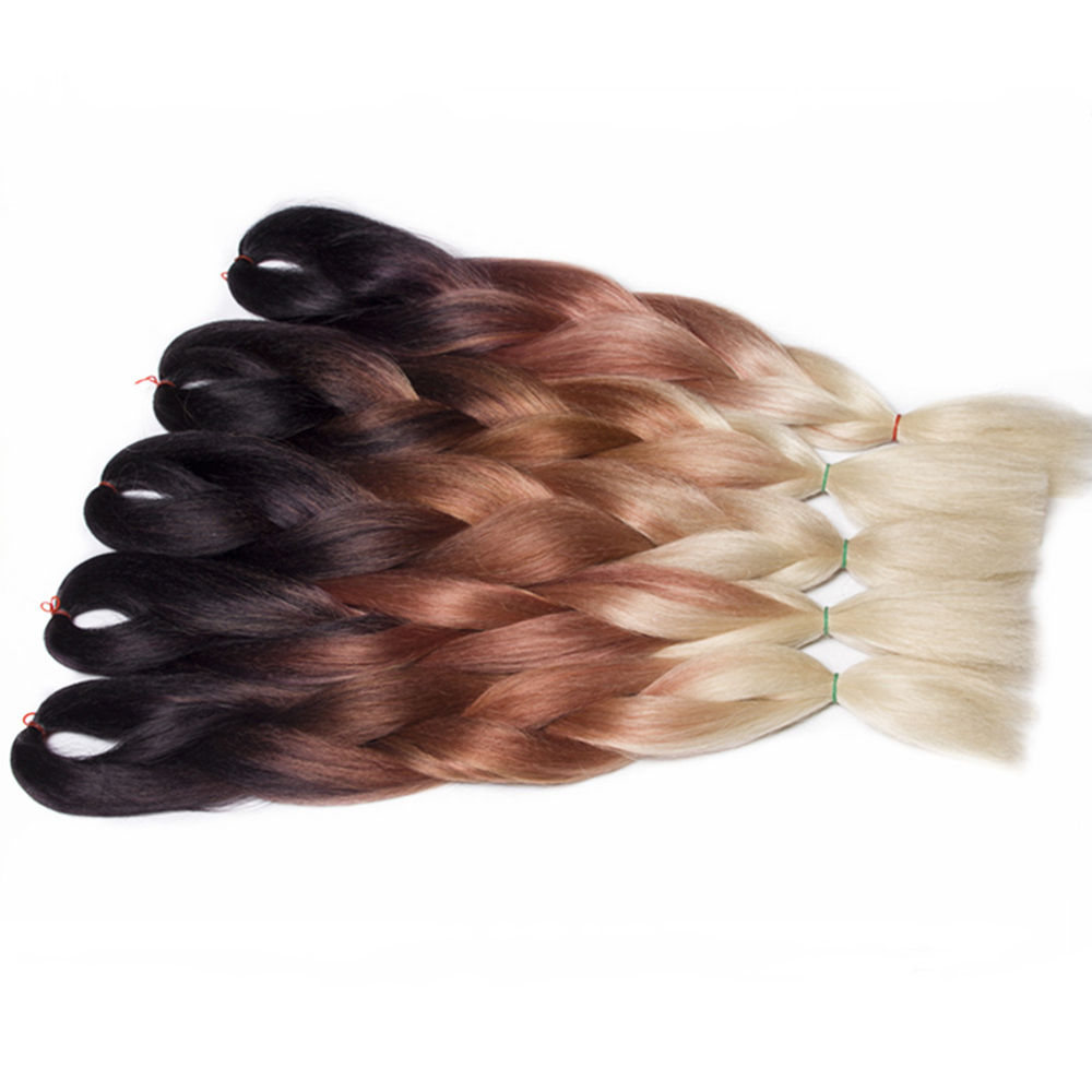 Feilimei Blond Jumbo Braiding Hair Extensions Synthetic 24