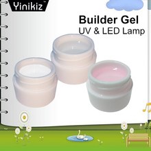 Yinikiz 8ml Builder Gel White Transparent Clear Pink 3 Color Camouflage Jelly Color Gel Nail Extending UV Gel High Quality