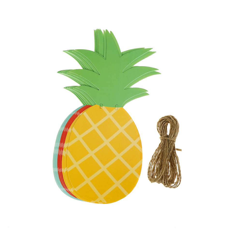 Summer Party Decoration Pineapple Banner Home Decorative Hanging ...