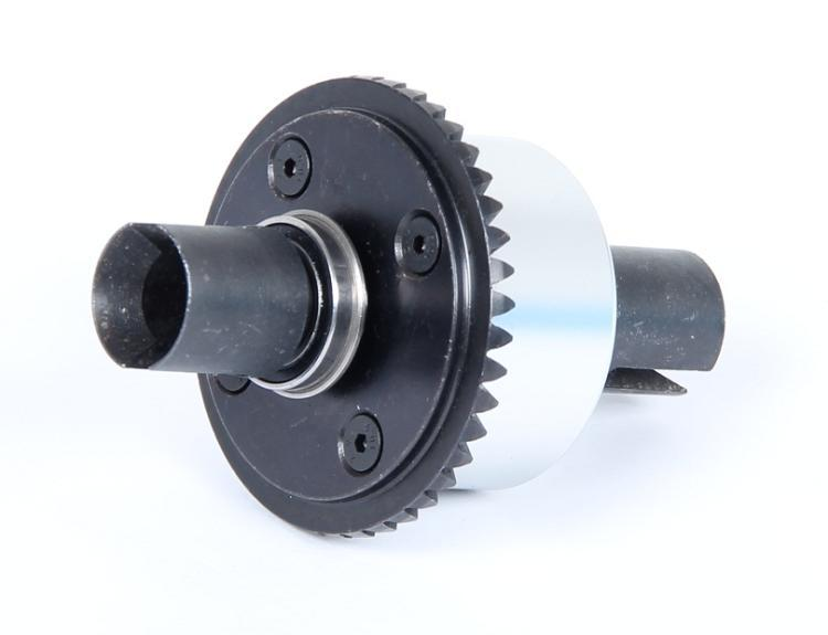 CNC metal front differential assembly black and silver color a suit 87023 rovan lt cnc metal middle differential assembly 87024