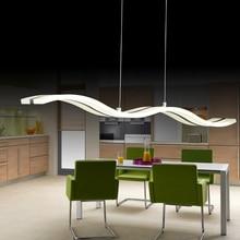 Wave shape Modern Pendant Lights Led Lamps for dinning room Acrylic 37W Pendant  hanging Lamp  AC 90-265V  L97H150CM