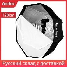 Godox Portable 120 cm/47.2in octogone Softbox parapluie Brolly réflecteur pour Flash Flash Flash stroboscopique Studio