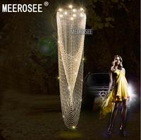 Crystal Ceiling Mounted Light Fitting Home Decors Clear Crystal Ceiling Light GU10 Bulb Hotel Stair Restaurant Light Lamp Lustre