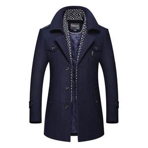 Image 2 - BOLUBAO hommes hiver laine manteau 2019 hommes nouvelle décontracté couleur unie laine mélanges laine caban mâle Trench manteau pardessus