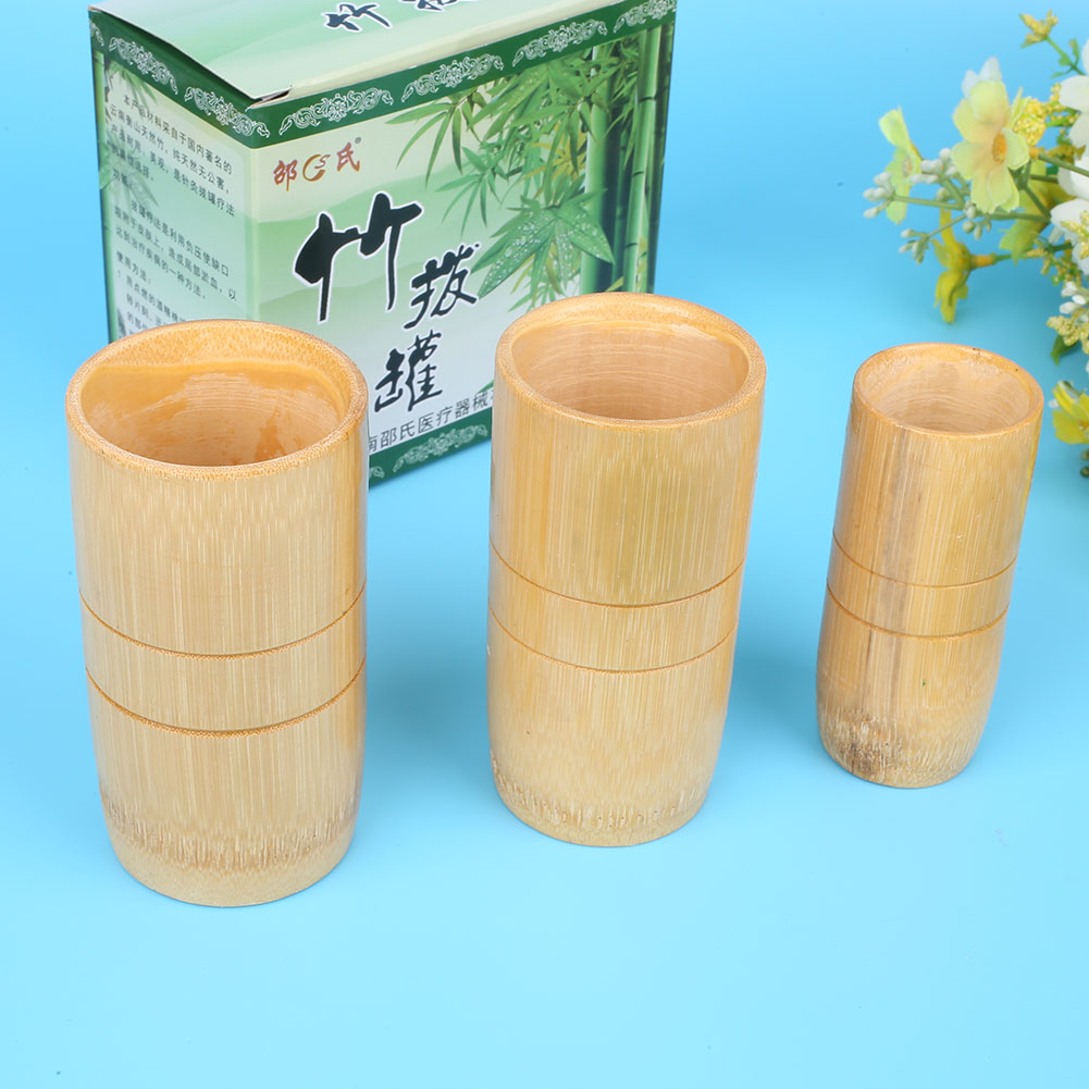 Naipo Health Care Cans Massage Body Anti Cellulite Bamboo Vacuum Massage Neck Back Massager Cupping Cups set touchbeauty body massage cellulite relaxation health care beauty tools tb 0826a