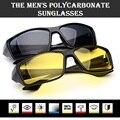 Nuevo deporte gafas de visión nocturna de conducción gafas de policarbonato marco gafas de sol Anti Glare UV400 para hombre