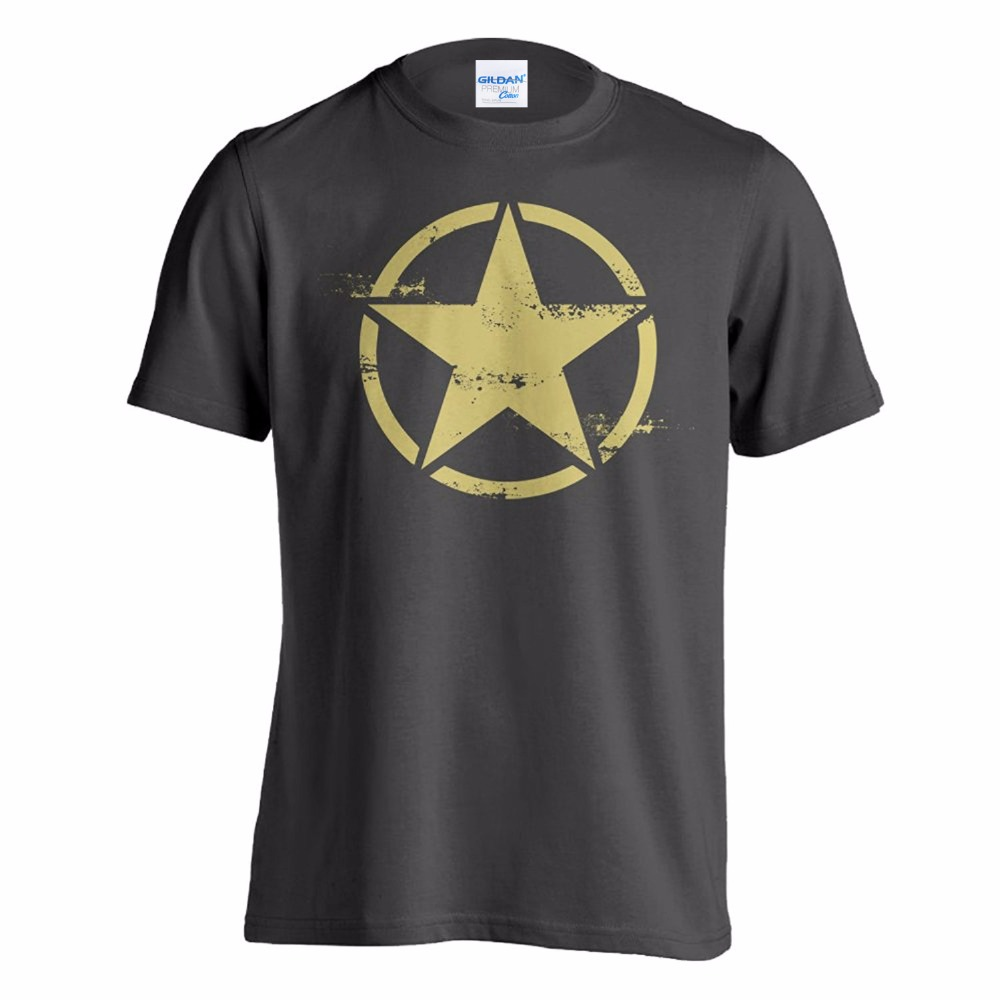 Newest 2019 Men T-Shirt Fashion Tee Shirt Short Sleeve Army Star Distressed T-Shirt Design Website image