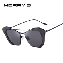 MERRY'S New Sunglasses Women Cat Eye Classic Brand Designer Twin-Beams Sunglasses 2017 Sun Glasses For Women S'8028