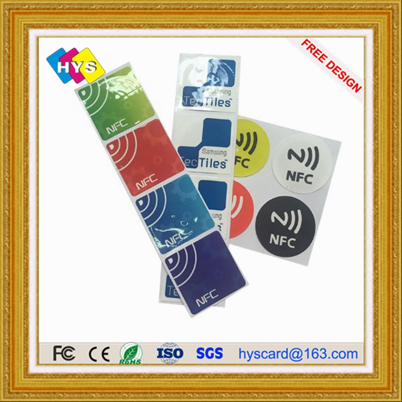 Customized Waterproof  RFID NFC Tag/Label/Sticker With 3M Glue And Rfid Card Supply