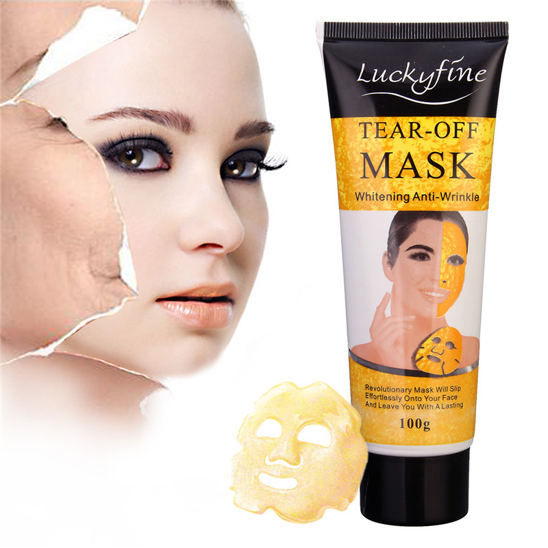 Máscaras luckyfine 24 k ouro colágeno Utilização : Todo o Rosto