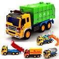 Caja de Regalo grande Chico de plástico modelo de camión kits de juguetes para los niños coche fricción mezclador volcado el coche camión de basura camión tanque de ejército juguetes inercia
