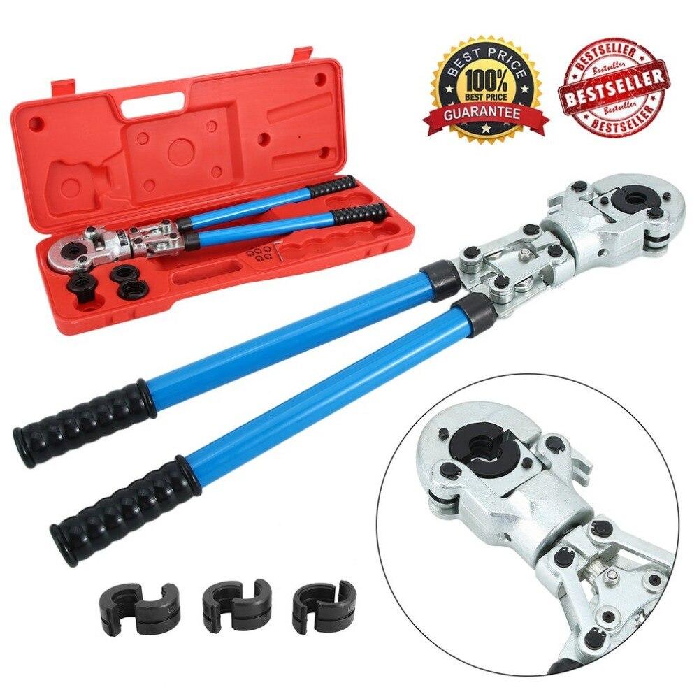 Здесь можно купить  Newest 16-32mm Punching Crimping Pliers U Type Contour for Compound Aluminum Pipe Fittings/PEX PE-X Crimping Plier+Calibrator  Инструменты