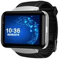 DOMINO DM98 2.2 inch Android 4.4 3G Smartwatch Phone MTK6572 Dual Core 1.2GHz 4GB ROM Camera Bluetooth GPS Smart Watch