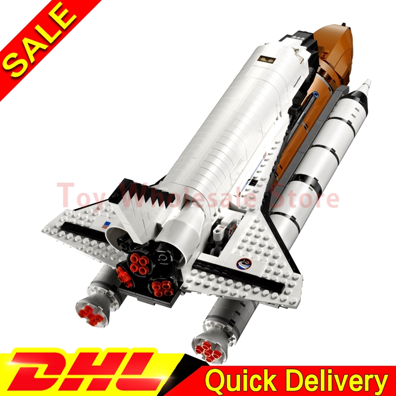 Lepin 16014 out of print Shtttle Expedition Spaceship Building Blocks Bricks Set lepins Toys Gifts Clone 10231 lepin 16002 modular metalbeard s sea cow building block set bricks kits set lepins toys clone 70810