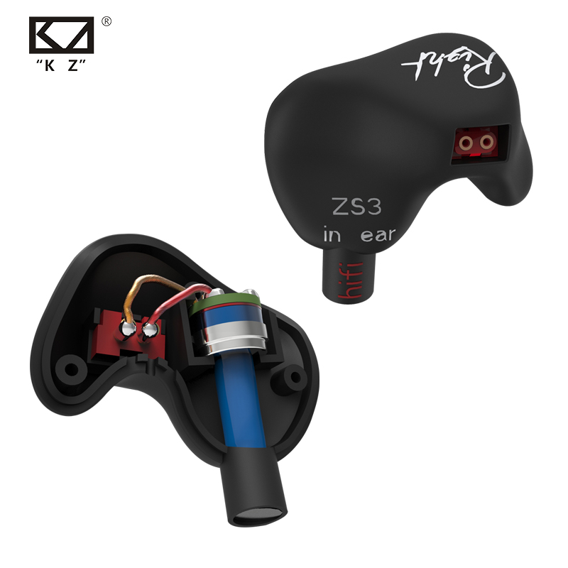 New KZ ZS3 In Ear Headphones Stereo Headset Ear Hook Running Sport Earphone Noise Cancelling Earbuds Headphones With Microphone kz headset storage box suitable for original headphones as gift to the customer