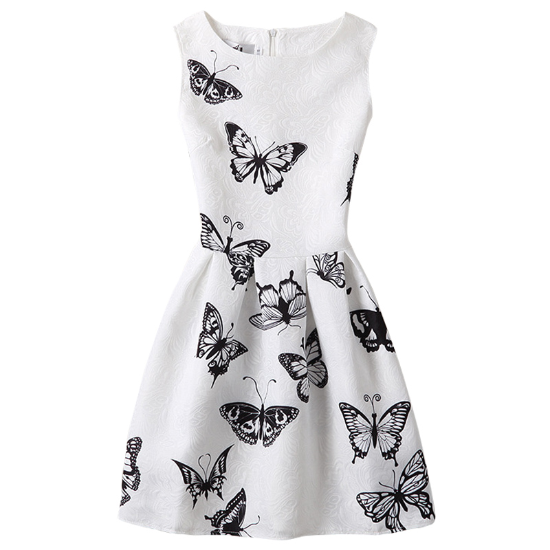 Girl Dress 2017 Fashion Summer Kids Princess Casual Butterfly Print Pattern Party Girls Dress Children Clothes Baby Girl Dresses monsoon girls dresses summer baby girls clothes kids dresses lemon print princess dress girl party cotton children dress 26