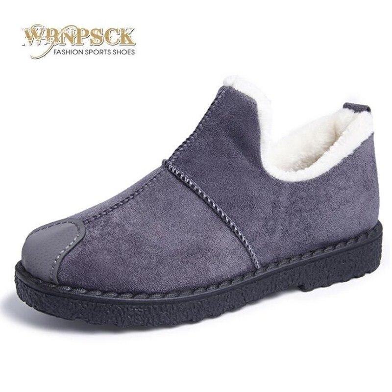 Femmes bottes 2018 d'hiver de nouvelle de femmes neige bottes, artificielle suede, peluche courte chaud hiver chaud coton chaussures 4 couleur taille 36-40