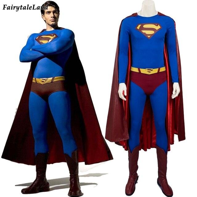 Superman Returns Superman cosplay costume for adult Halloween ...