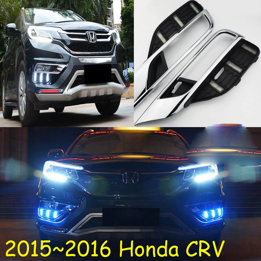 one set car accessories for <font><b>Honda</b></font> CR-V CR V <font><b>CRV</b></font> daytime light 2016 2017 <font><b>2018</b></font> <font><b>LED</b></font> DRL headlight for <font><b>CRV</b></font> fog light image
