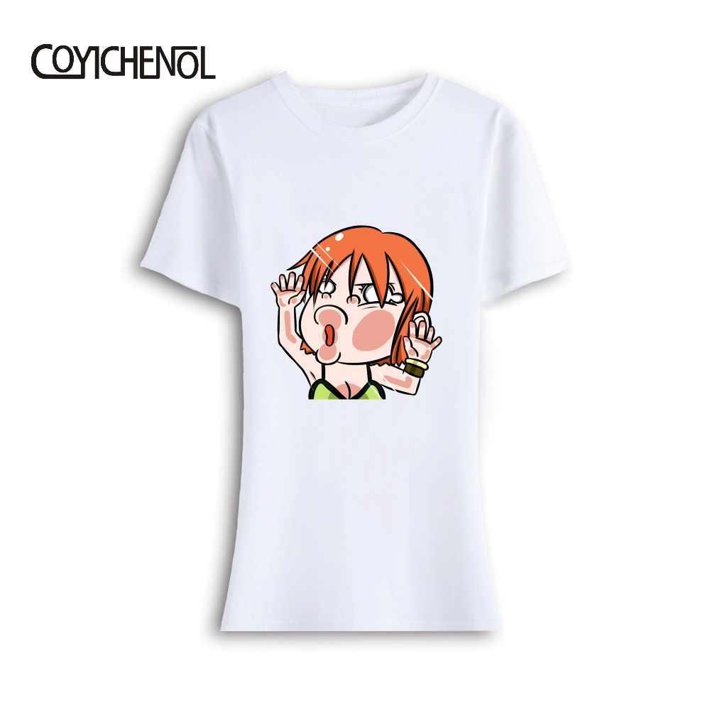 Одна штука Аниме Обезьяна D Luffe Милая с круглым вырезом Женская футболка модал Косплей принт плюс размер футболка COYICHENOL