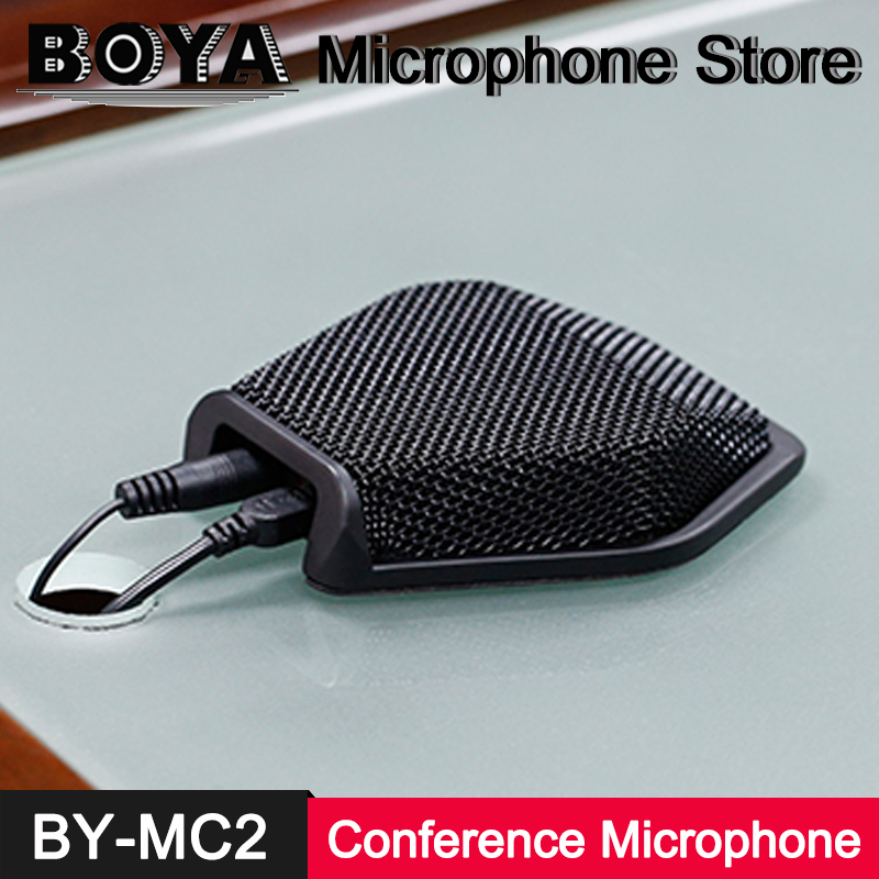 BOYA BY-MC2 USB Supercardioid Directional Conference Condenser Microphone for PC Desktop Laptop Computer Conference Seminars Mic boya by mc2 portable usb condenser conference microphone durable for speech